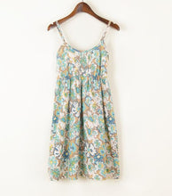 Sleeveless Boho Solid & Floral Dress