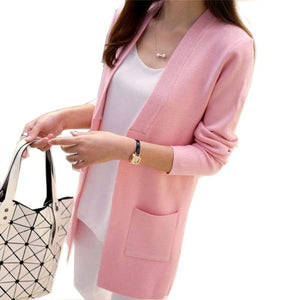 Casual Knitted Long Sleeve Cardigan