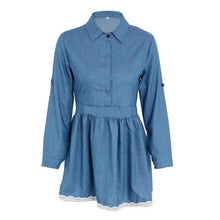 Casual Cinched Waist Denim Dress