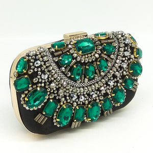 Candide Jewel-stone embellished clutch