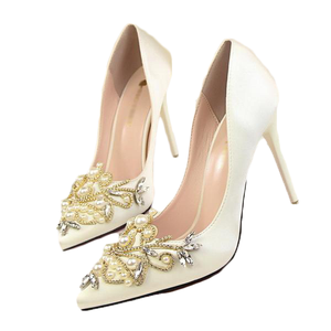 Paige jewel-stone embellished pumps