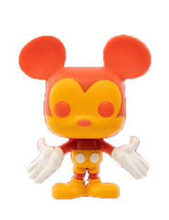 Funko Mickey Mouse Yellow & Orange Funko Shop Exclusive POP! Vinyl