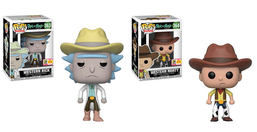 Funko Western Rick and Morty Set Summer Convention 2018 POP! Vinyl