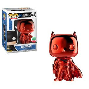 Funko Batman RED Chrome Christmas Funko Shop Exclusive DC Comics