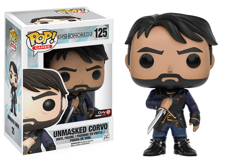 Funko Dishonored 2 Unmasked Corvo POP! Vinyl Figure Gamestop Exclusive