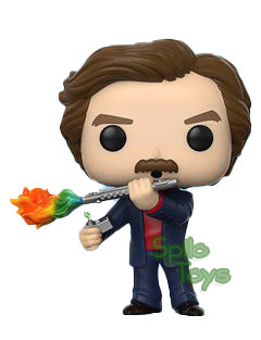 Funko Ron Burgundy with Jazz Flute POP!  Funko Shop Exclusive 2020 Summer Convention