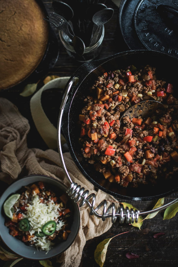 Harvest Season: Bison Chili & Chile Recipe (or Vegan Chili & Chile)