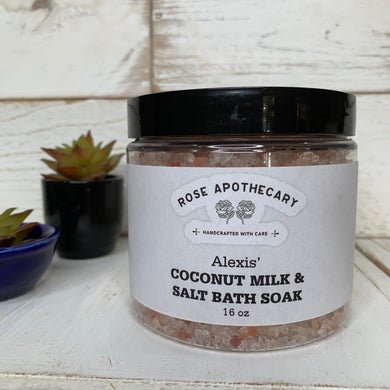 Alexis' Coconut Milk & Salt Bath Soak - Rose Apothecary - Shitt's Creek