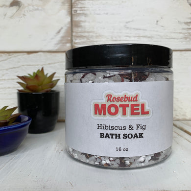 Rosebud Motel Hibiscus & Fig Bath Soak - Rose Apothecary - Shitt's Creek