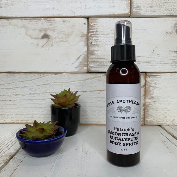 Patrick's Lemongrass & Eucalyptus Body Spray - Rose Apothecary - Shitt's Creek