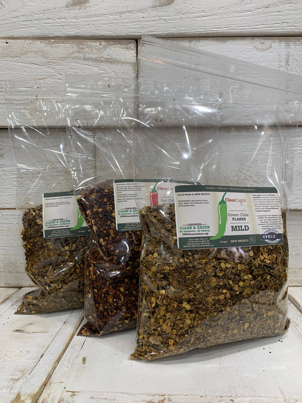 New Mexico Chile Flakes - 4 Cup Bags