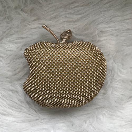 Apple Evening Clutch - Gold
