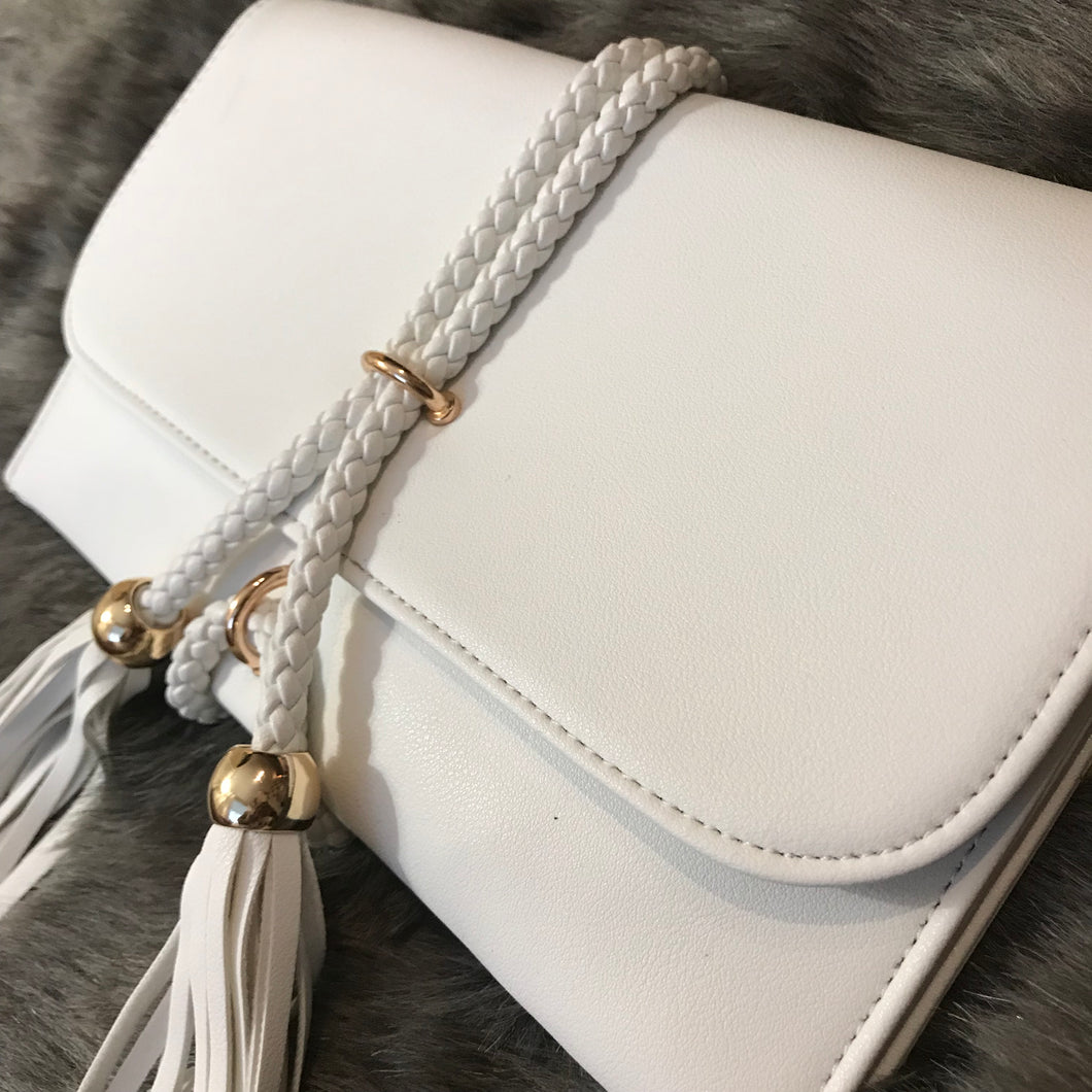 Savvy Rope Clutch - White