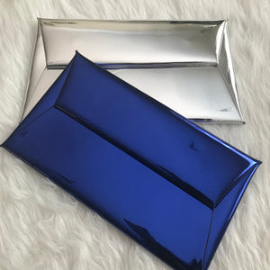 Reflective Envelope Clutch - Silver