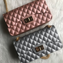Quilted Jelly Handbag - Dusty Rose