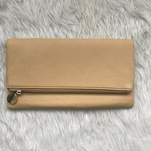 Coco Tan - Pebbled Faux Leather Clutch