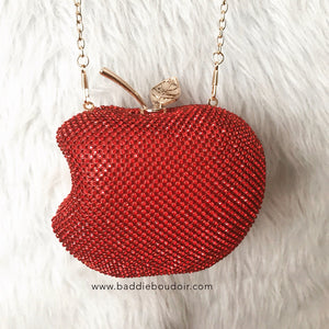 Apple Red Evening Clutch