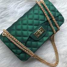 Quilted Jelly Handbag - Green