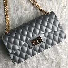 Quilted Jelly Handbag - Silver