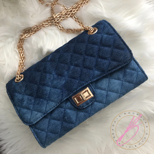 Quilted Denim Handbag