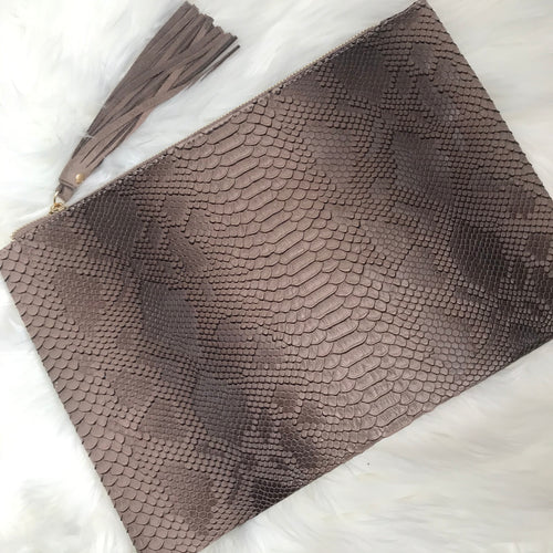 Oversized Reptile Clutch - Brown