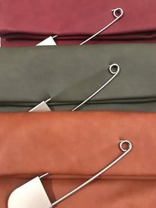 Safety Pin Clutch - Burgundy