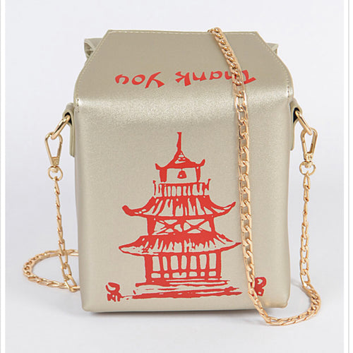 Take Out Inspired Bag - Gold