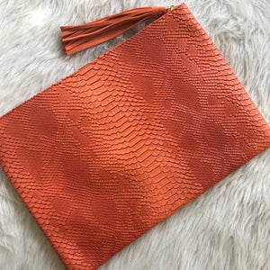 Oversized Reptile Clutch - Orange