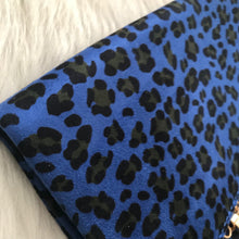 Dolly - Blue Leopard Clutch