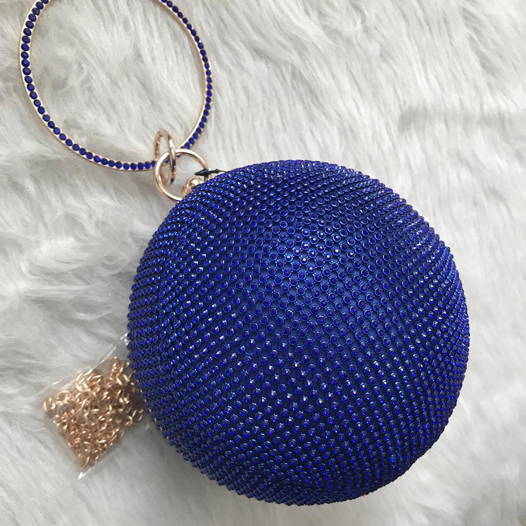 Disco Ball Cutch - Cobalt Blue