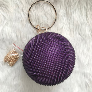 Disco Ball Cutch - Purple