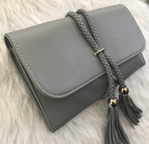 Savvy Rope Clutch - Gray