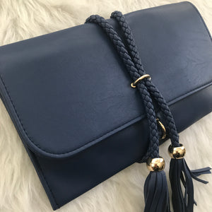 Savvy Rope Clutch - Navy