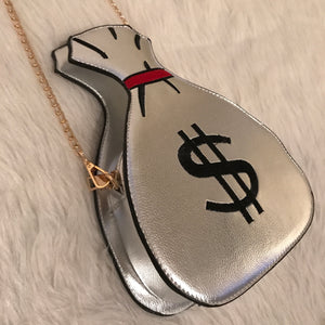 Mariah Money Bag Silver