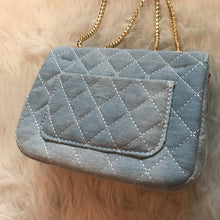 Denim Quilted Mini Handbag