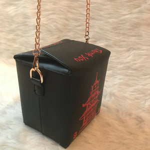 Take Out Inspired Bag- Black/Red