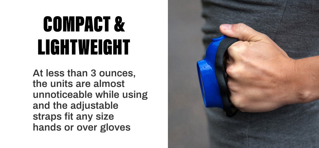 Knuckle Lights are compact and lightweight
