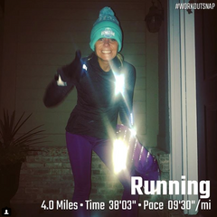 Jessica Hadley recommends running reflective gear