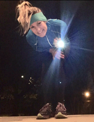 Kimberly Hatting and her safety lights for running