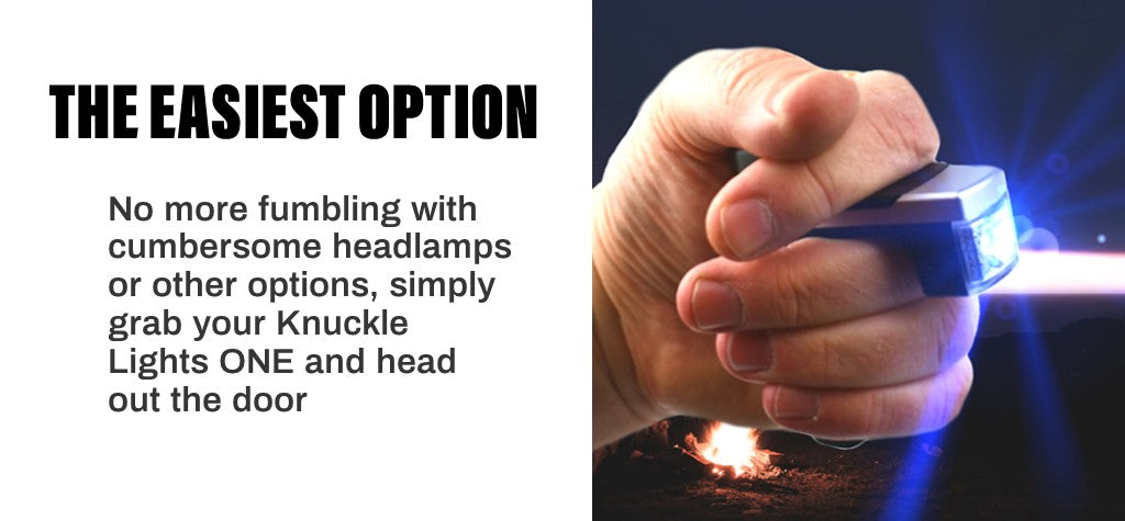 Knuckle Lights ONE is the easiest option, just grab and go