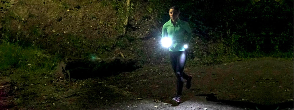 Knuckle Lights Colors for nighttime running and walking
