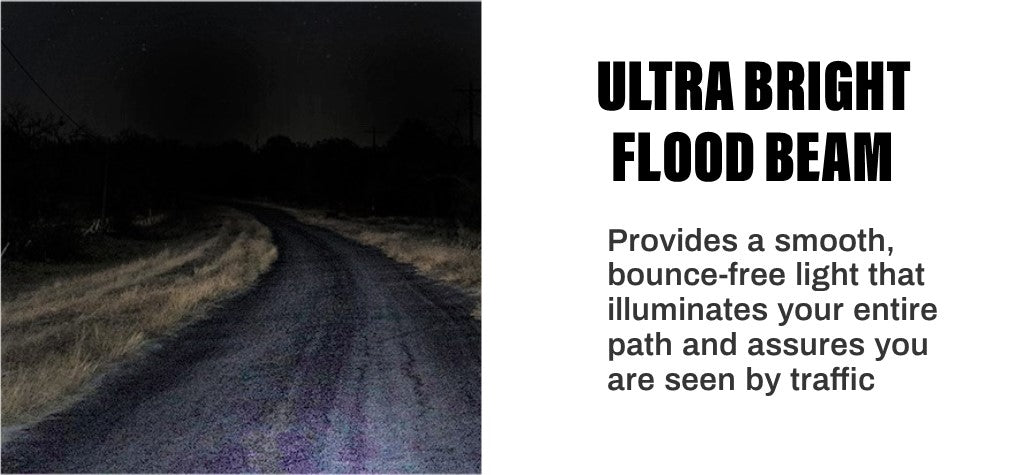 Knuckle Lights ONE are ultra bright with extra wide flood beam