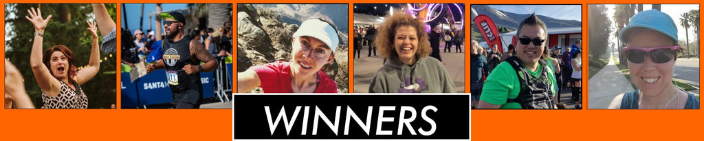 Running gear giveaway winners