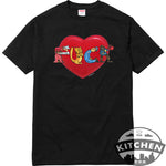 Supreme Fuck Love Tee - Black & Navy & White
