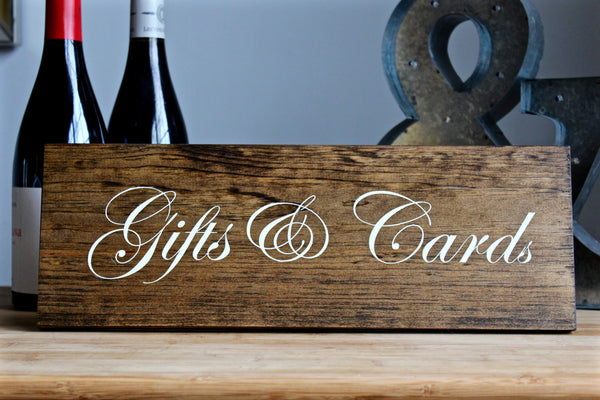 Gifts & Cards Rustic Wedding Sign