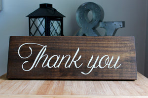 Rustic Wedding Thank You Sign