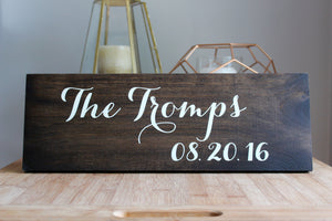 Introducing the Newlyweds Rustic Wedding Sign