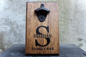 Personalized Family Bar Wall Mounted Bottle Opener
