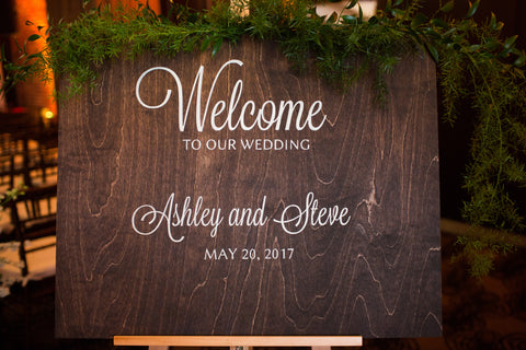 Custom Welcome to Our Wedding Sign