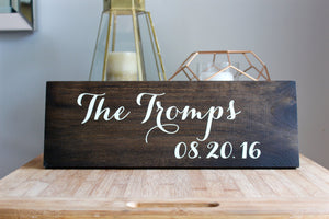 Introducing the Newlywed Couple Wedding Sign, Family Name, Wedding Date Sign, Wedding Decor